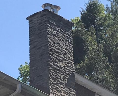Exterior Chimney Restoration image