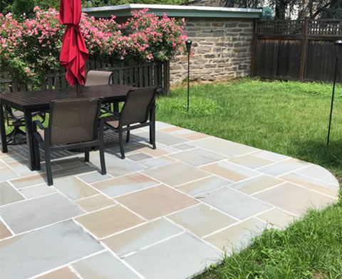 Flagstone Patio with full range color